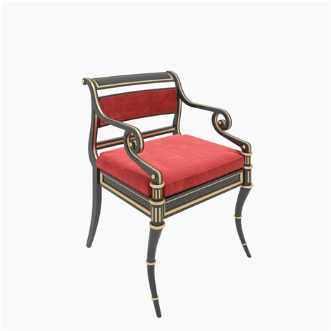 regency armchair baker regency armchair chair 3d model
