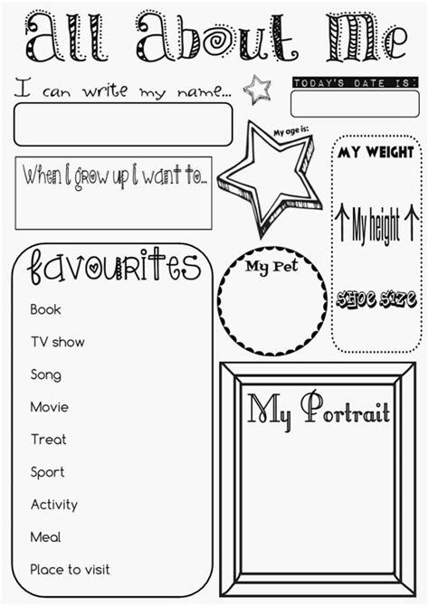 All About Worksheet
