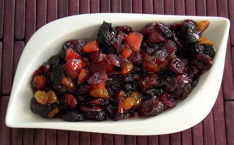 Dried Cranberry Fruit cranberry and dried fruit compote simply fresh