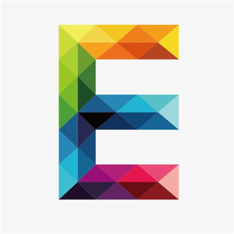 colorful letters colorful letters e letter colorful e png image and
