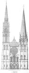 cathedral roofdrawing medieval chartres plans and drawings