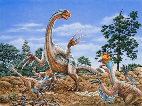 painting dinosaurs pre historic cliff knecht artist representative
