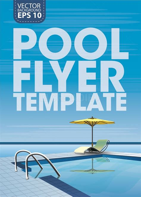 free pool flyer templates pool flyer template vector creadib