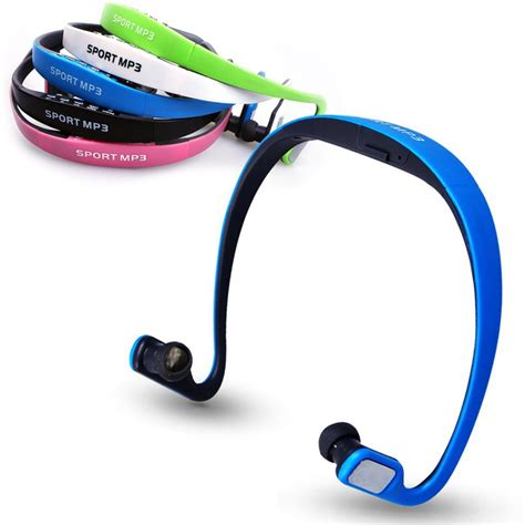 Headphone Micro Sd Player cheap sports wireless headphone mp3 player headset