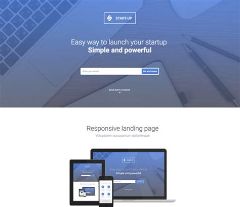 20 Free Responsive And Mobile Website Templates Bittbox Search Website Template