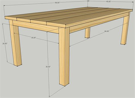 plans outdoor table   wood working
