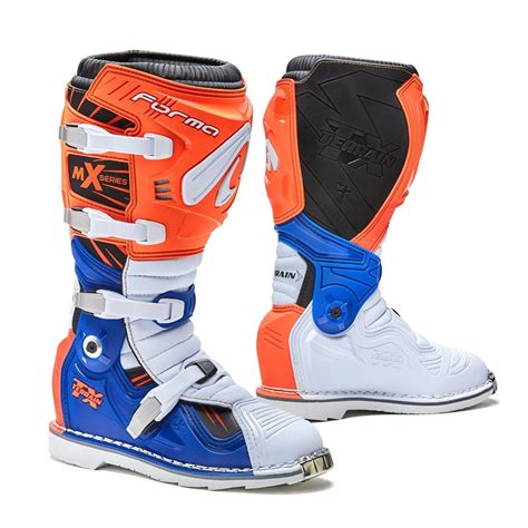 mx boots forma mx boots terrain tx 2 0 orange white blue matt