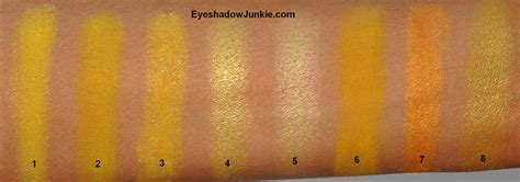 yellow swatches swatch file yellow 171 eyeshadow junkie