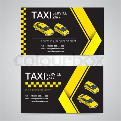 transport business card template taxi card for taxi drivers taxi service vector business