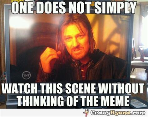 Lord Of The Meme - one does not simply watch