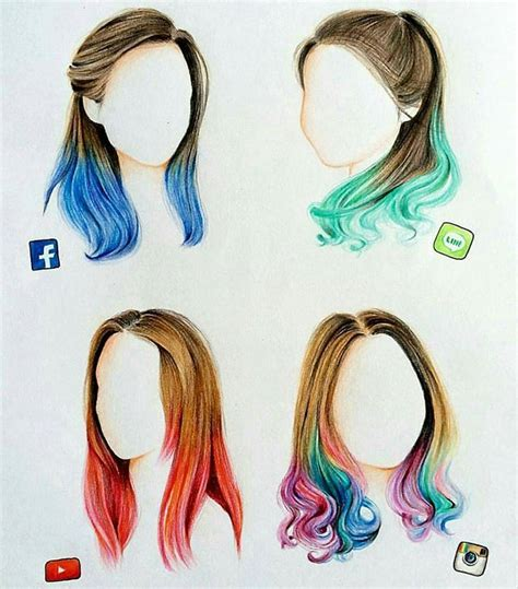Hairstyles Drawings Pinterest | quot beautiful social media hairstyles quot art pinterest