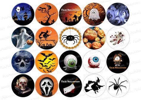Imagenes De Halloween Redondas | papel comestible halloween 1 1 hoja con 20 circulos de 5