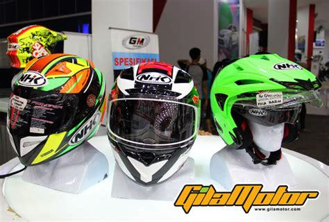 Helm Nhk Hari Ini line up terbaru helm nhk rilis di jakarta fair 2015 gilamotor