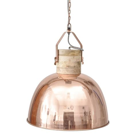 the libra company merle 037792 copper and wood pendant