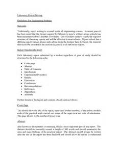Report Writing Exle For Students report writing sles pdf