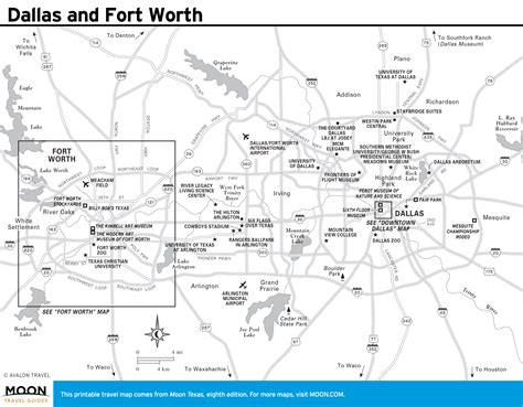 Printable Map Dallas Fort Worth Metroplex | printable travel maps of texas moon travel guides