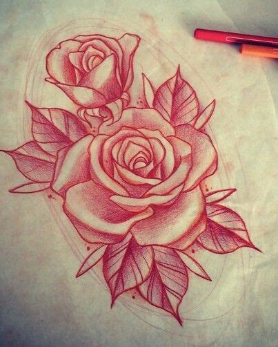 how to draw a traditional rose tattoo draw a pencil and in color