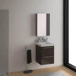 meuble sous vasque l 46 x h 57 7 x p 46 cm brun sensea