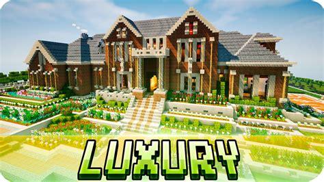 minecraft house maps minecraft luxury brick mansion house map w download youtube