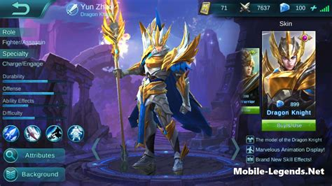 mobile legends yun zhao features mobile legends