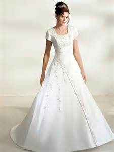 bw10953 modest wedding gown short sleeves
