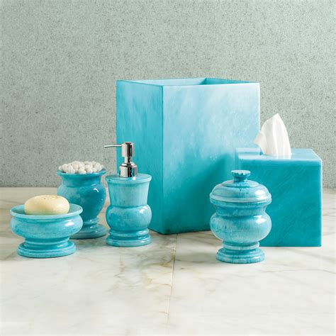 sky blue marble bath accessories gump s