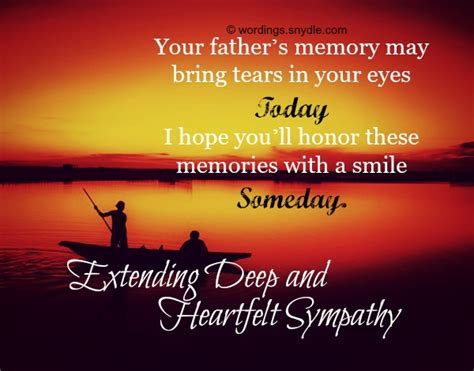 Sympathy Messages for Loss of Father   Wordings and Messages