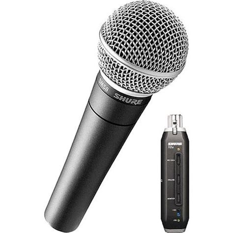 Converter Mic To Usb shure x2u xlr to usb microphone signal adapter and sm58