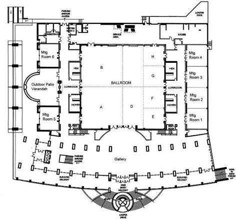 layout of hotel and convention center the hurst conference center here for for printable