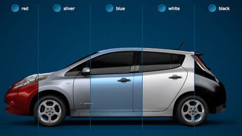 nissan leaf colors the nissan leaf in five new colors and other tidbits from
