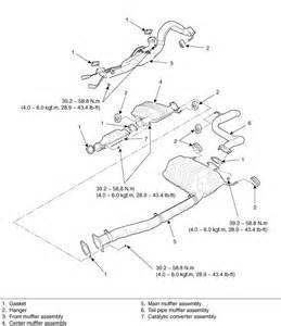Kia Exhaust System Diagram 2003 Kia Sedona Exhaust Diagram Auto Parts Diagrams