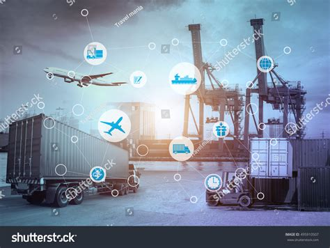 International Mba Technology by Business Logistics Concept Global Business Connection