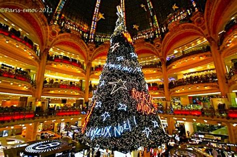 galeries lafayette noel rock n mode christmas tree and