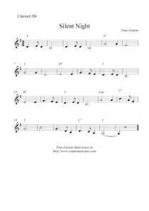 Silent night free christmas clarinet sheet music notes