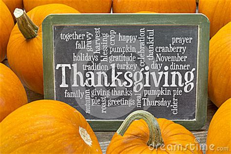 thanksgiving celebration word cloud stock photo image