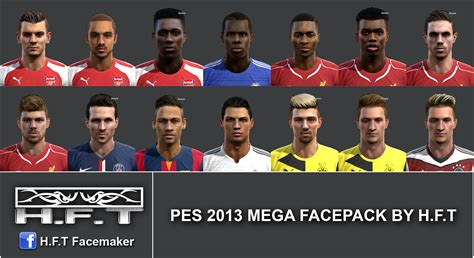 hair pack pes 13 pes 2013 mega facepack by h f t pes patch
