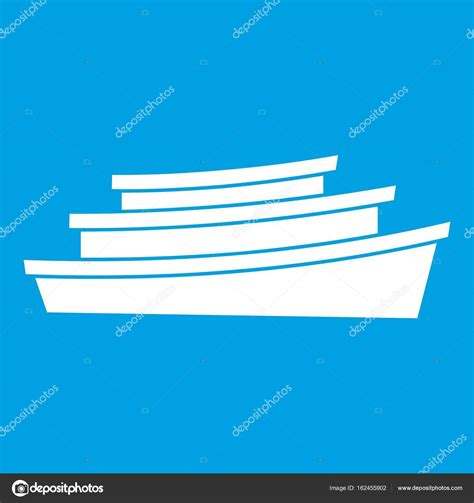 boat icon white wooden boat icon white stock vector 169 ylivdesign 162455902