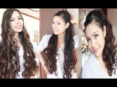 back to school hairstyles ariana grande no heat gift wrapper curls method 2 ariana grande