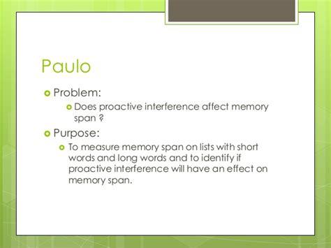 memory span memory span presentation