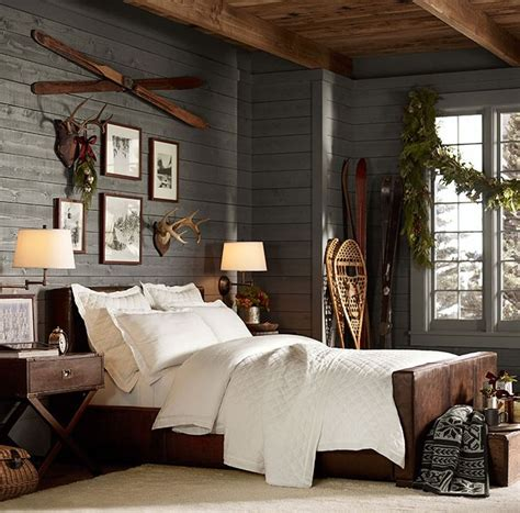 cabin style bedroom christmas styles pottery barn lodge sweet lodge