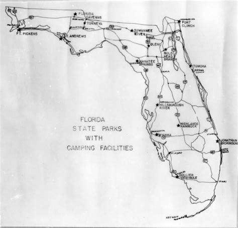 florida state parks map florida memory map of florida state parks