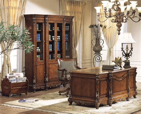 Ornate Executive Desk by Ornate Traditional Executive Desk Set 11399