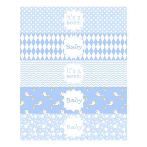 baby boy water bottle label baby boy shower printable label