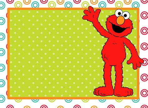 elmo template the gallery for gt sesame blank invitations