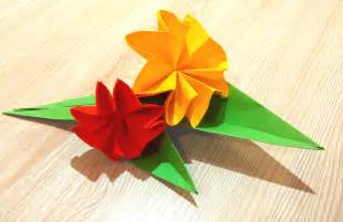 Easy Origami For Flower - easy origami flower great ideas for decor