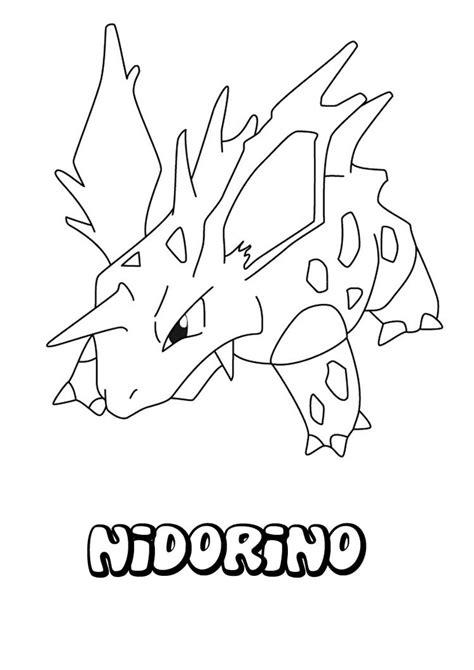 pokemon coloring pages nidoking nidorino coloring pages hellokids com
