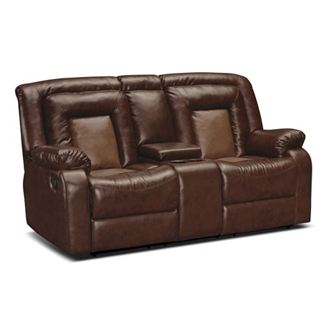 leather recliner loveseat with console coming soon www furniture com