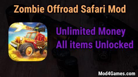 game offline mod unlimited money zombie offroad safari game mod apk with offline obb data
