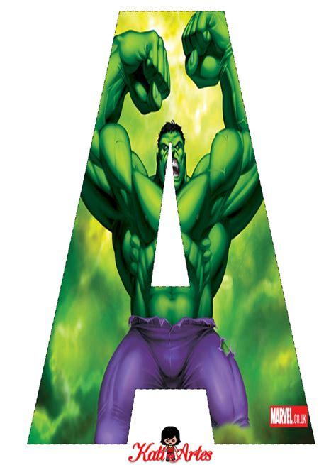 letras decoradas hulk a z http eugeniakatia 2014 08 alfabeto
