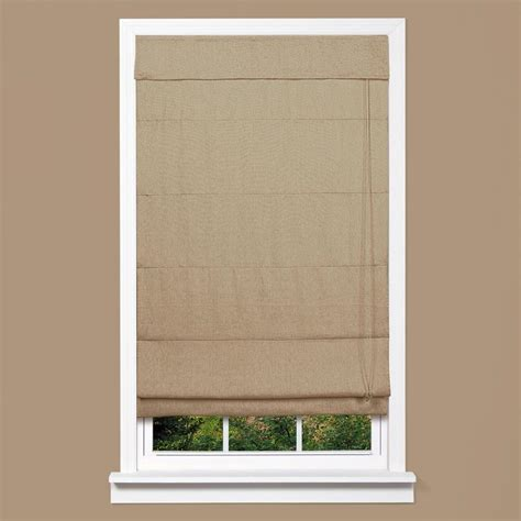 homebasics true linen fabric inaccessible cord shade